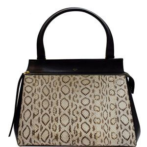 Céline Edge Medium Python Top Handle  Handbag